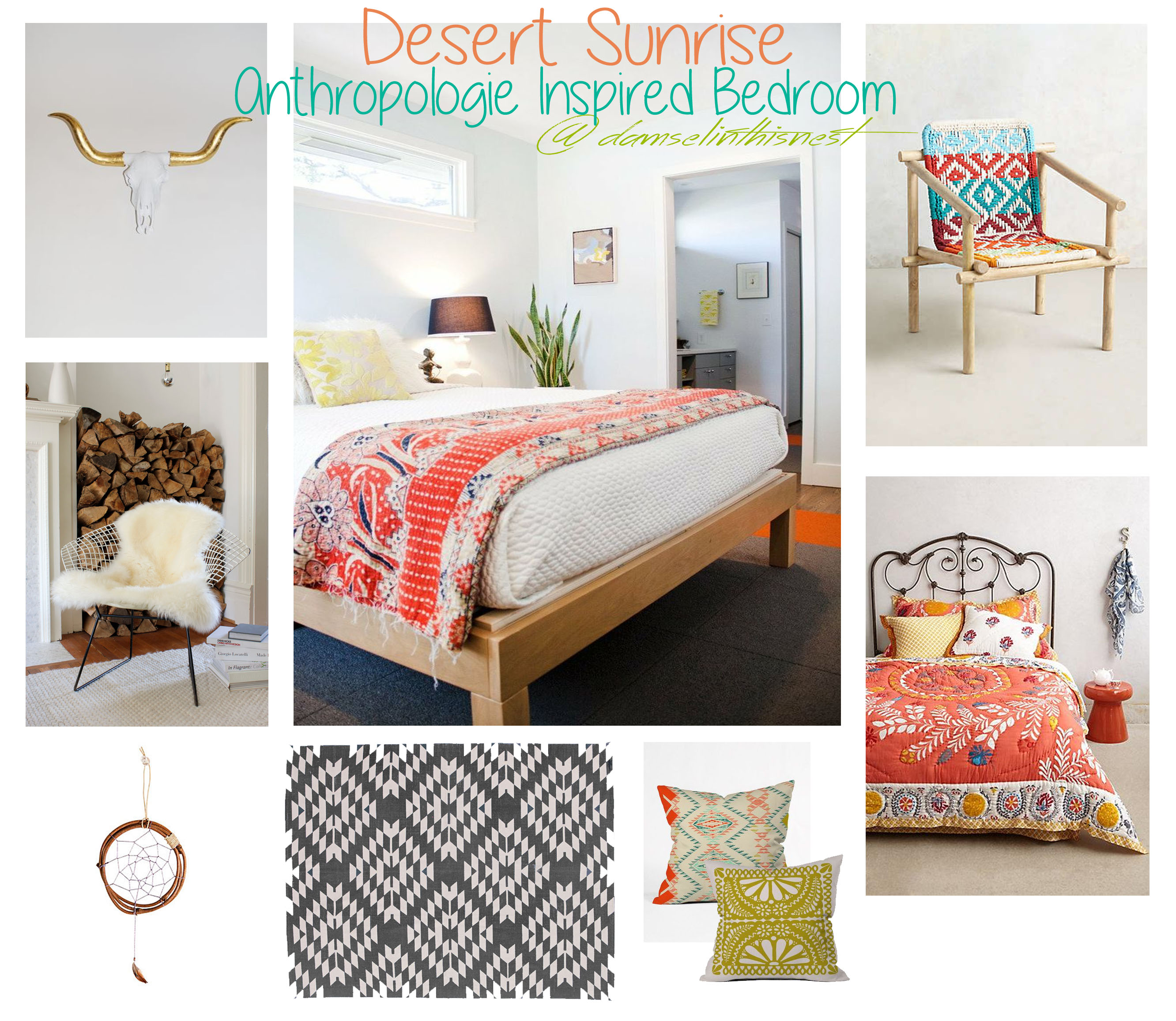 Desert Sunrise Anthropologie Inspired Bedroom Damsel In This Nest